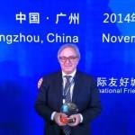 Gian Mario Spacca alla cerimonia di premiazione delle Marche a Canton in Cina