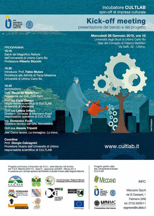 Cultura: manifesto CultLab - Spin off di impresa culturale